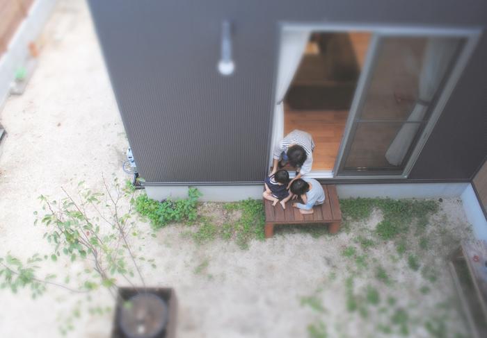 呉市新築住宅 イッコー建築事務所 中庭のある家 コの字型の家