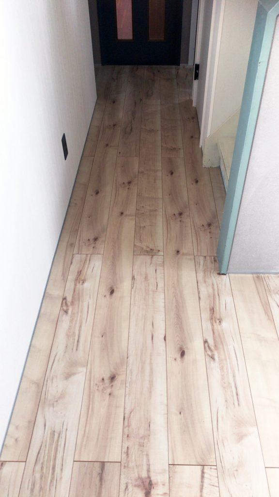 広島リフォーム  イッコー建築事務所 廊下の床張り替え